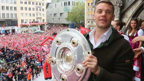 FC Bayern Muenchen Celebrate Winning The Bundesliga