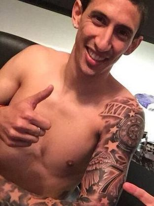 Football Friends Online When 90 Mins Is Not Enoughangel Di Maria To Leave Manchester United His New Tattoo Reveals It All Football Friends Online When 90 Mins Is Not Enough