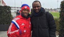 Patrick Vieira visits Bayern Munich to pick up coaching tips from Pep Guardiola