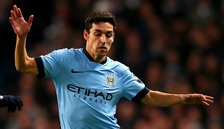 Manchester City have the pace to hurt Barcelona on the counter-attack, says winger Jesus Navas